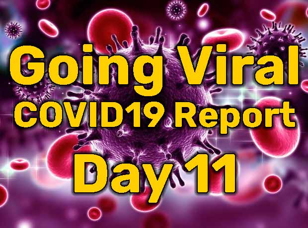 Going Viral – COVID19 Report – Day 11